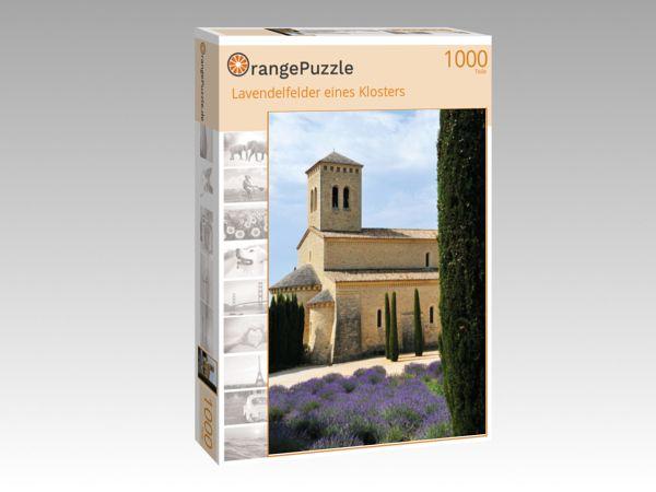 """Puzzle Motiv """"Lavendelfelder eines Klosters"""" - Puzzle-Schachtel zu 1000 Teile Puzzle"""
