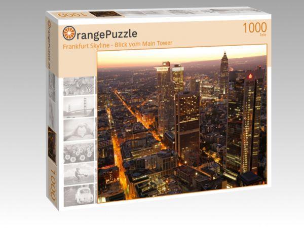 """Puzzle Motiv """"Frankfurt Skyline - Blick vom Main Tower"""" - Puzzle-Schachtel zu 1000 Teile Puzzle"""