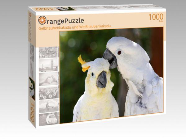 """Puzzle Motiv """"Gelbhaubenkakadu und Weißhaubenkakadu"""" - Puzzle-Schachtel zu 1000 Teile Puzzle"""