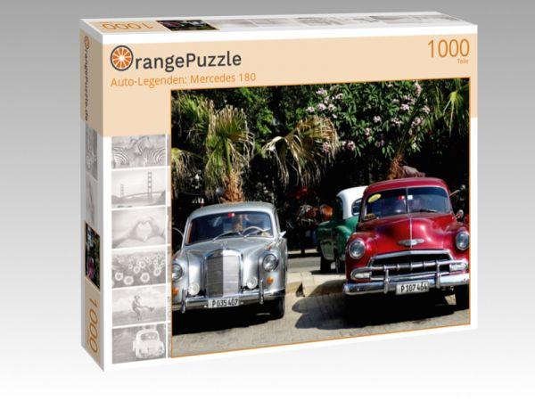 """Puzzle Motiv """"""""Auto-Legenden: Mercedes 180"""""""" - Puzzle-Schachtel zu 1000 Teile Puzzle"""
