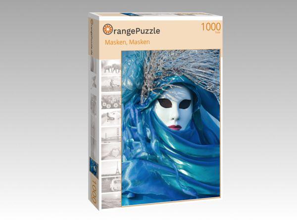 """Puzzle Motiv """"Masken, Masken"""" - Puzzle-Schachtel zu 1000 Teile Puzzle"""