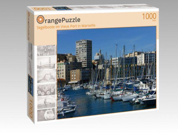 """Puzzle Motiv """"Segelboote im Vieux Port in Marseille"""" - Puzzle-Schachtel zu 1000 Teile Puzzle"""