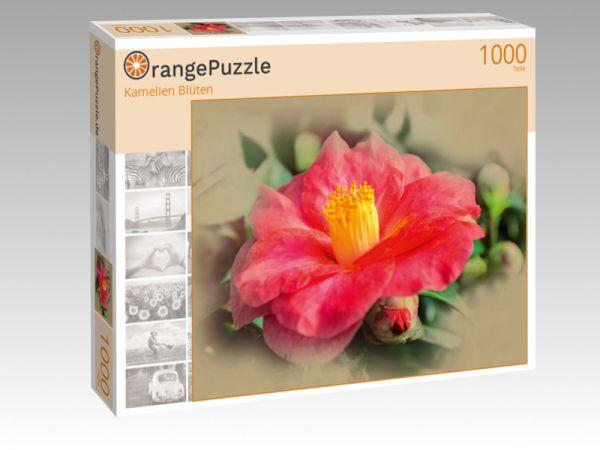 """Puzzle Motiv """"Kamelien Blüten"""" - Puzzle-Schachtel zu 1000 Teile Puzzle"""