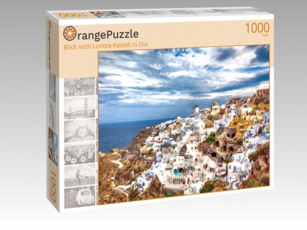 """Puzzle Motiv """"Blick vom Lontza-Kastell in Oia"""" - Puzzle-Schachtel zu 1000 Teile Puzzle"""