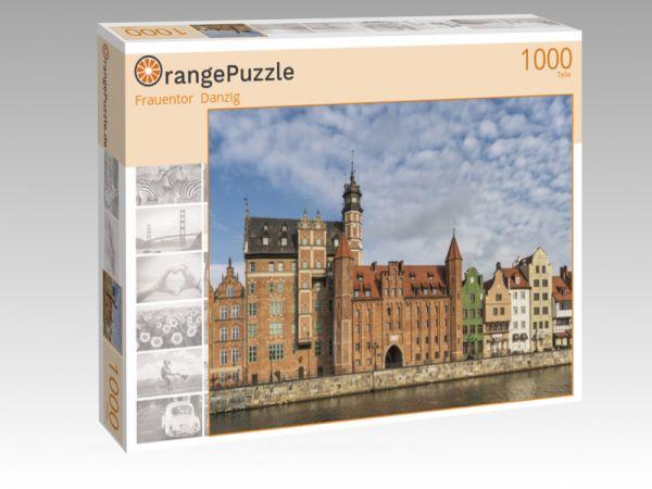 "Puzzle Motiv ""Frauentor  Danzig"" - Puzzle-Schachtel zu 1000 Teile Puzzle"