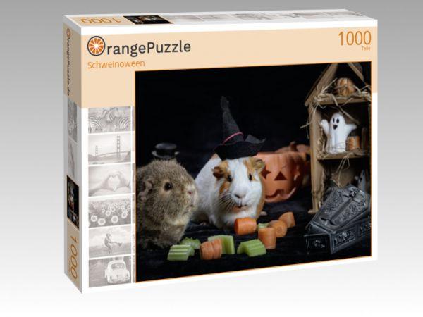 """Puzzle Motiv """"Schweinoween"""" - Puzzle-Schachtel zu 1000 Teile Puzzle"""