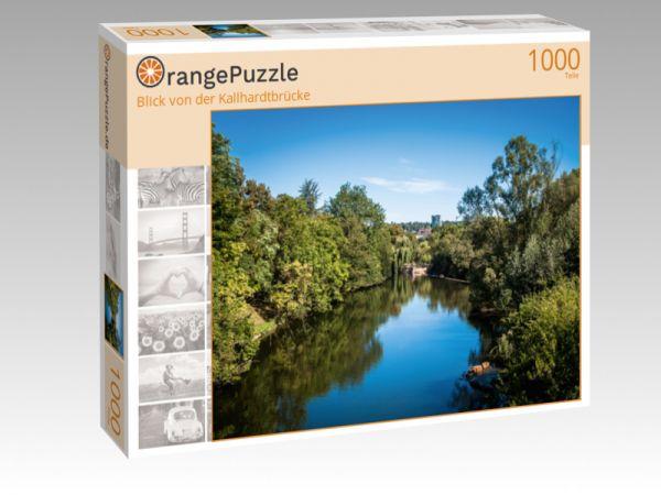 """Puzzle Motiv """"Blick von der Kallhardtbrücke"""" - Puzzle-Schachtel zu 1000 Teile Puzzle"""