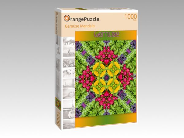 """Puzzle Motiv """"Gemüse Mandala"""" - Puzzle-Schachtel zu 1000 Teile Puzzle"""