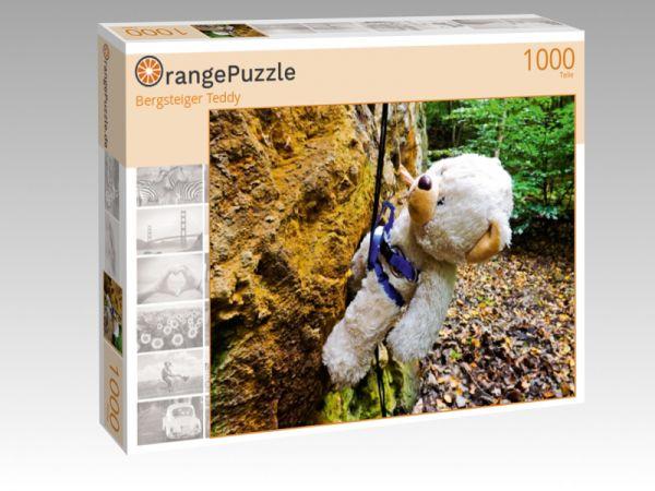 """Puzzle Motiv """"Bergsteiger Teddy"""" - Puzzle-Schachtel zu 1000 Teile Puzzle"""