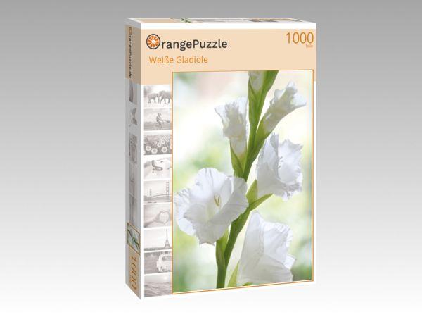 """Puzzle Motiv """"Weiße Gladiole"""" - Puzzle-Schachtel zu 1000 Teile Puzzle"""