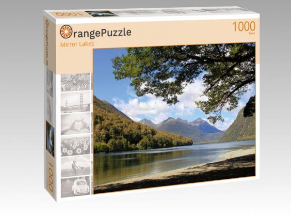 """Puzzle Motiv """"Mirror Lakes"""" - Puzzle-Schachtel zu 1000 Teile Puzzle"""