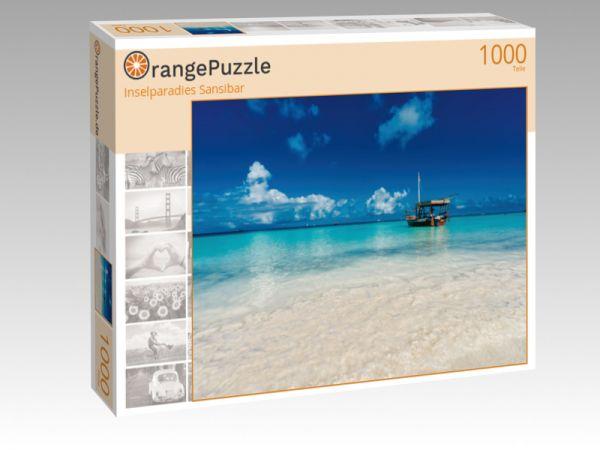 """Puzzle Motiv """"Inselparadies Sansibar"""" - Puzzle-Schachtel zu 1000 Teile Puzzle"""