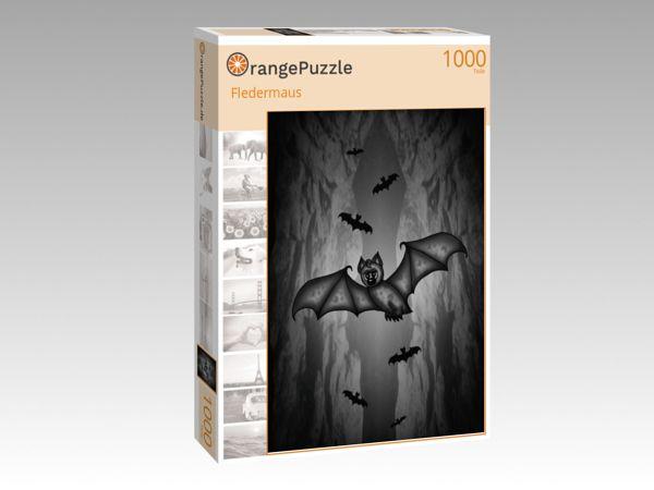 """Puzzle Motiv """"Fledermaus"""" - Puzzle-Schachtel zu 1000 Teile Puzzle"""