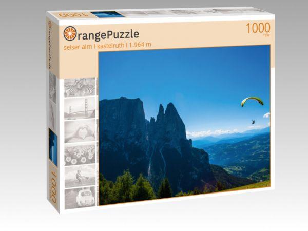 """Puzzle Motiv """"seiser alm I kastelruth I 1.964 m"""" - Puzzle-Schachtel zu 1000 Teile Puzzle"""