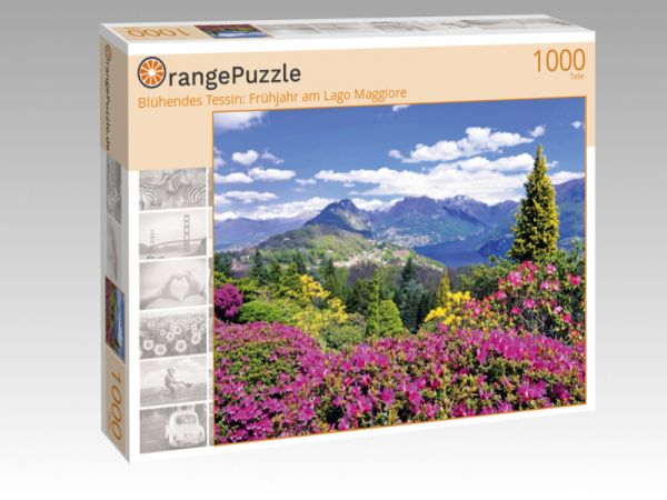 "Puzzle Motiv ""Blühendes Tessin: Frühjahr am Lago Maggiore"" - Puzzle-Schachtel zu 1000 Teile Puzzle"