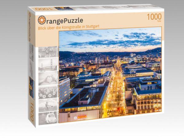 """Puzzle Motiv """"Blick über die Königstraße in Stuttgart"""" - Puzzle-Schachtel zu 1000 Teile Puzzle"""