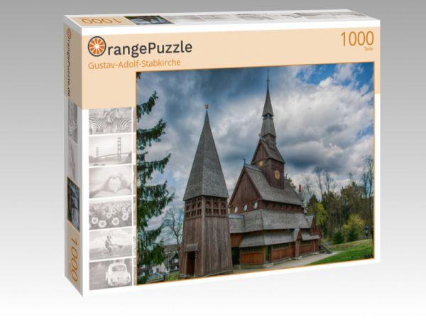 """Puzzle Motiv """"Gustav-Adolf-Stabkirche"""" - Puzzle-Schachtel zu 1000 Teile Puzzle"""