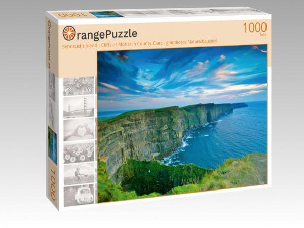 "Puzzle Motiv ""Sehnsucht Irland - Cliffs of Moher in County Clare - grandioses Naturschauspiel"" - Puzzle-Schachtel zu 1000 Teile Puzzle"