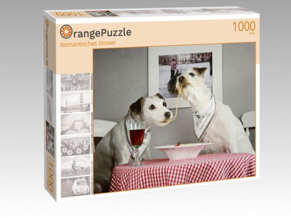 "Puzzle Motiv ""Romantisches Dinner"" - Puzzle-Schachtel zu 1000 Teile Puzzle"
