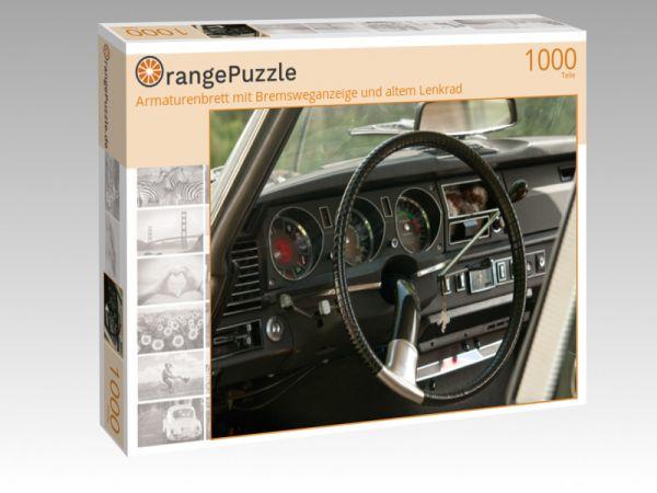 """Puzzle Motiv """"Armaturenbrett mit Bremsweganzeige und altem Lenkrad"""" - Puzzle-Schachtel zu 1000 Teile Puzzle"""