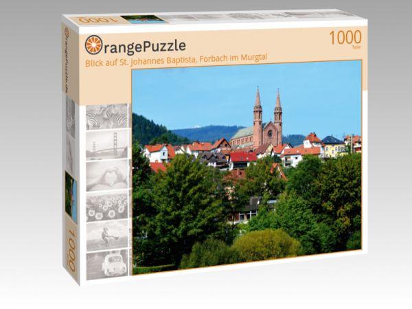 """Puzzle Motiv """"Blick auf St. Johannes Baptista, Forbach im Murgtal"""" - Puzzle-Schachtel zu 1000 Teile Puzzle"""