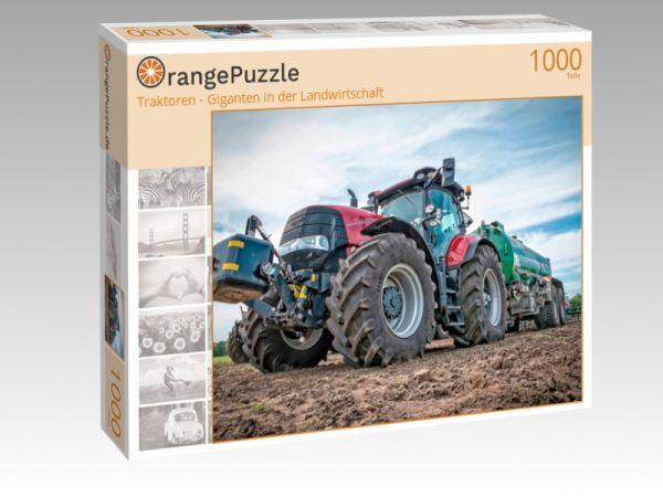 """Puzzle Motiv """"Traktoren - Giganten in der Landwirtschaft"""" - Puzzle-Schachtel zu 1000 Teile Puzzle"""