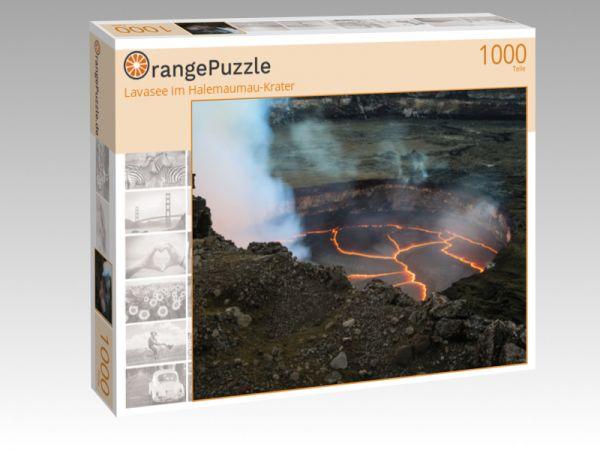 "Puzzle Motiv ""Lavasee im Halemaumau-Krater"" - Puzzle-Schachtel zu 1000 Teile Puzzle"