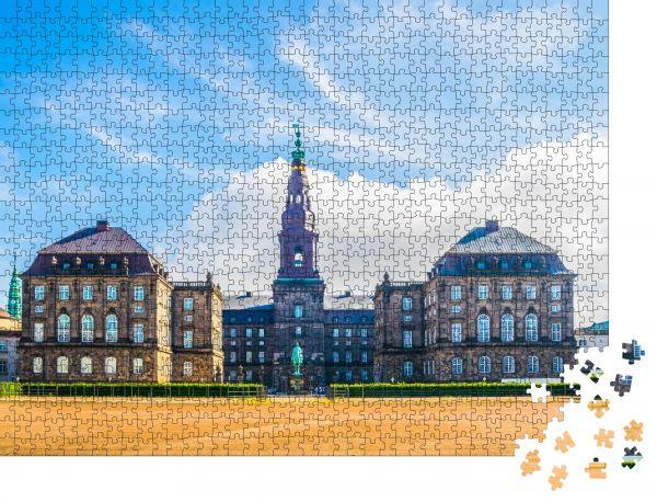 "Puzzle-Motiv ""Christiansborg Slot Palace in Kopenhagen, Dänemark"" - Puzzle-Schachtel zu 1000 Teile Puzzle"