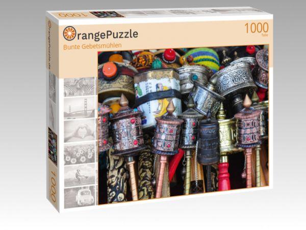 """Puzzle Motiv """"Bunte Gebetsmühlen"""" - Puzzle-Schachtel zu 1000 Teile Puzzle"""