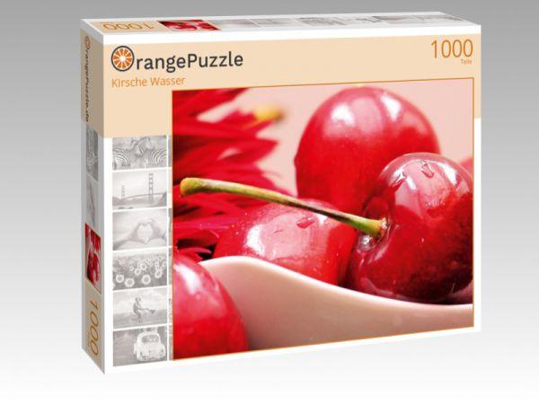"""Puzzle Motiv """"Kirsche Wasser"""" - Puzzle-Schachtel zu 1000 Teile Puzzle"""