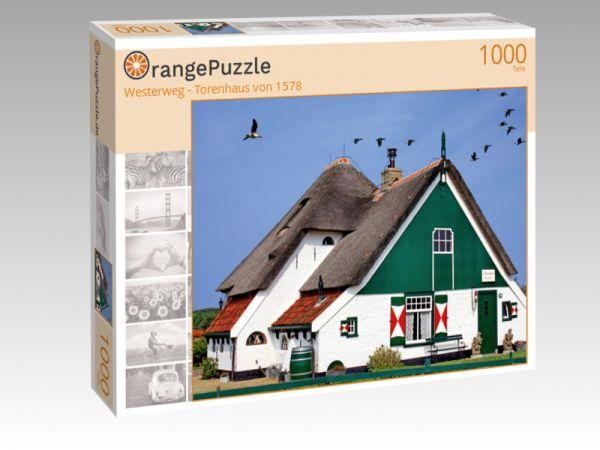 """Puzzle Motiv """"Westerweg - Torenhaus von 1578"""" - Puzzle-Schachtel zu 1000 Teile Puzzle"""