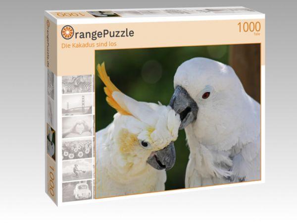 "Puzzle Motiv ""Die Kakadus sind los"" - Puzzle-Schachtel zu 1000 Teile Puzzle"