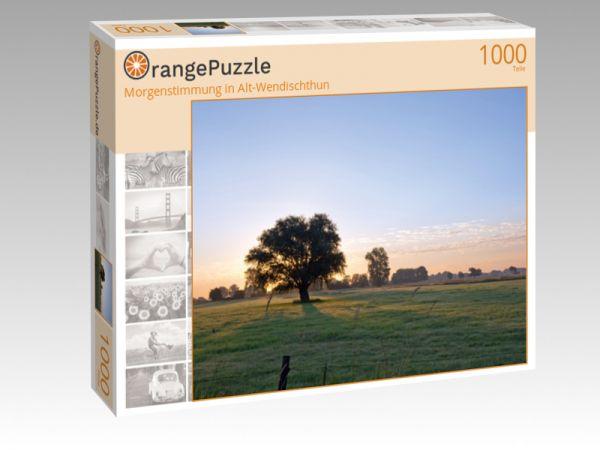 """Puzzle Motiv """"Morgenstimmung in Alt-Wendischthun"""" - Puzzle-Schachtel zu 1000 Teile Puzzle"""