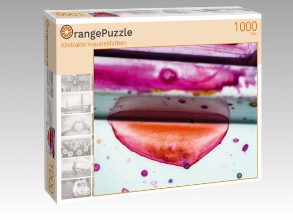 "Puzzle Motiv ""Abstrakte Aquarellfarben"" - Puzzle-Schachtel zu 1000 Teile Puzzle"