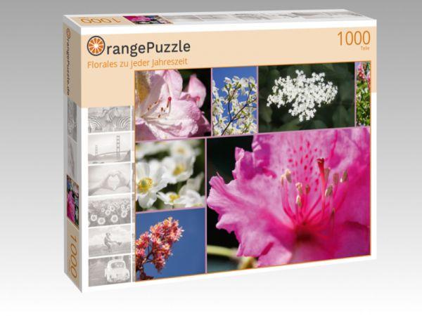 """Puzzle Motiv """"Florales zu jeder Jahreszeit"""" - Puzzle-Schachtel zu 1000 Teile Puzzle"""
