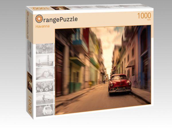 """Puzzle Motiv """"Havanna"""" - Puzzle-Schachtel zu 1000 Teile Puzzle"""