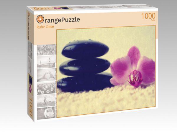 """Puzzle Motiv """"Ruhe Oase"""" - Puzzle-Schachtel zu 1000 Teile Puzzle"""