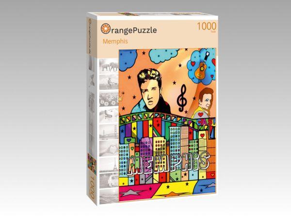 """Puzzle Motiv """"Memphis"""" - Puzzle-Schachtel zu 1000 Teile Puzzle"""
