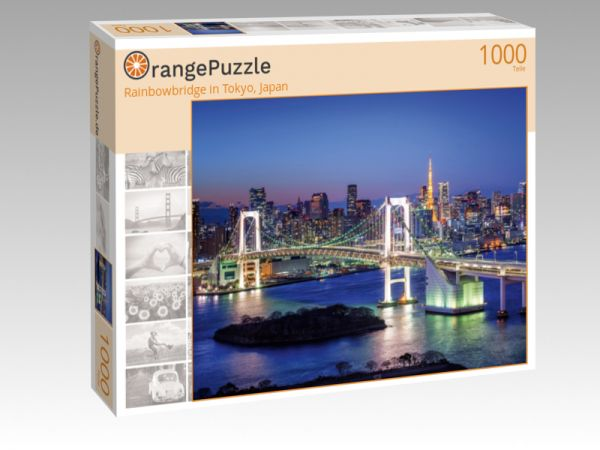 "Puzzle Motiv ""Rainbowbridge in Tokyo, Japan"" - Puzzle-Schachtel zu 1000 Teile Puzzle"