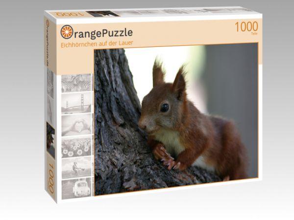 """Puzzle Motiv """"Eichhörnchen auf der Lauer"""" - Puzzle-Schachtel zu 1000 Teile Puzzle"""