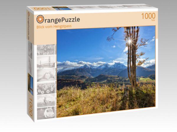 """Puzzle Motiv """"Blick vom Hengstpass"""" - Puzzle-Schachtel zu 1000 Teile Puzzle"""
