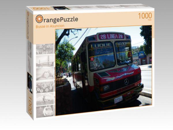 """Puzzle Motiv """"Busse in Asuncion"""" - Puzzle-Schachtel zu 1000 Teile Puzzle"""