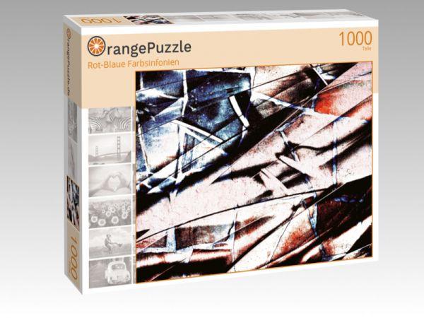 """Puzzle Motiv """"Rot-Blaue Farbsinfonien"""" - Puzzle-Schachtel zu 1000 Teile Puzzle"""