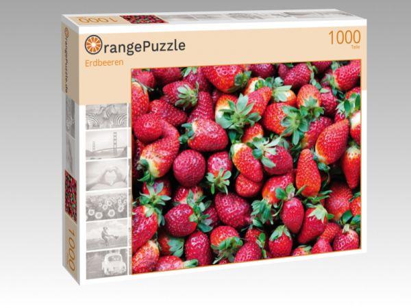 "Puzzle Motiv ""Erdbeeren"" - Puzzle-Schachtel zu 1000 Teile Puzzle"