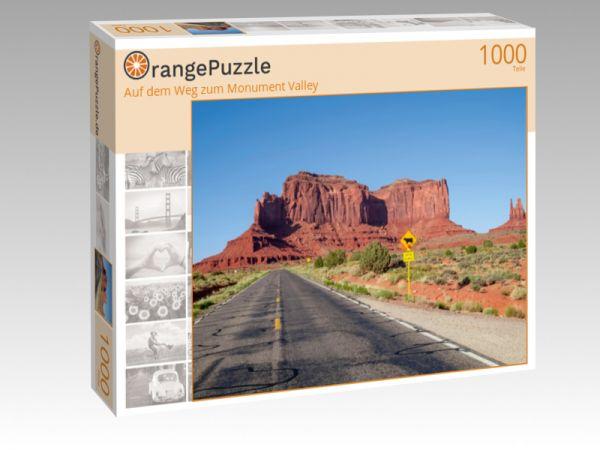 """Puzzle Motiv """"Auf dem Weg zum Monument Valley"""" - Puzzle-Schachtel zu 1000 Teile Puzzle"""