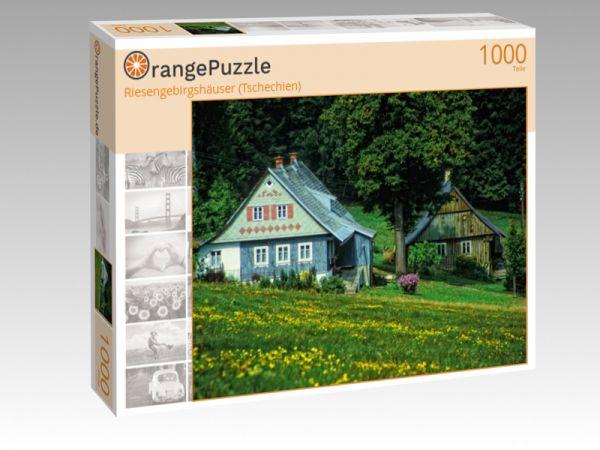 """Puzzle Motiv """"Riesengebirgshäuser (Tschechien)"""" - Puzzle-Schachtel zu 1000 Teile Puzzle"""