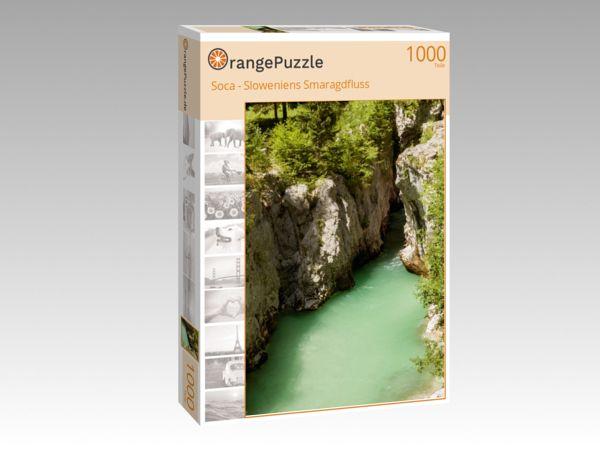 """Puzzle Motiv """"Soca - Sloweniens Smaragdfluss"""" - Puzzle-Schachtel zu 1000 Teile Puzzle"""