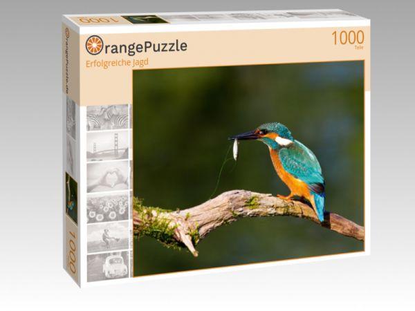 """Puzzle Motiv """"Erfolgreiche Jagd"""" - Puzzle-Schachtel zu 1000 Teile Puzzle"""