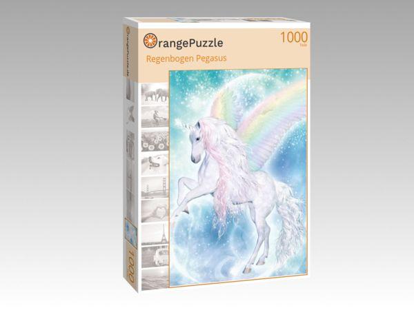 """Puzzle Motiv """"Regenbogen Pegasus"""" - Puzzle-Schachtel zu 1000 Teile Puzzle"""