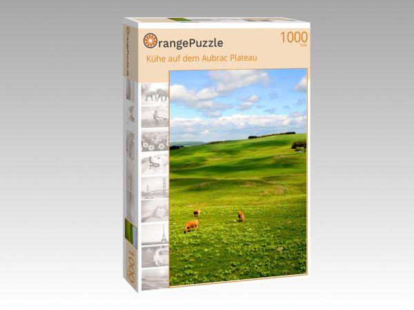 """Puzzle Motiv """"Kühe auf dem Aubrac Plateau"""" - Puzzle-Schachtel zu 1000 Teile Puzzle"""